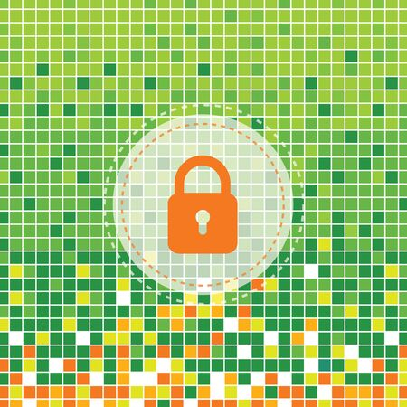 moses: lock symbol on green moses background