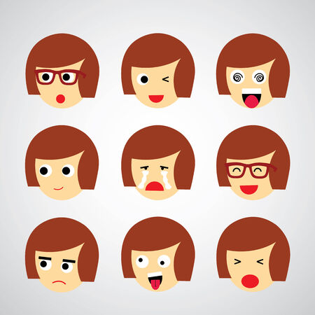 banter: face emotion vector cartoon style  Illustration