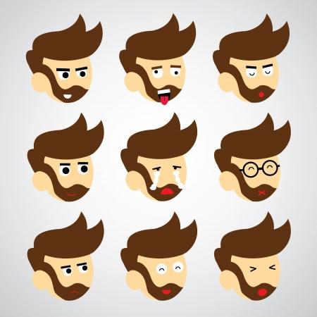 face emotion vector cartoon style Stock Vector - 23826772