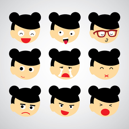 banter: face emotion vector cartoon style