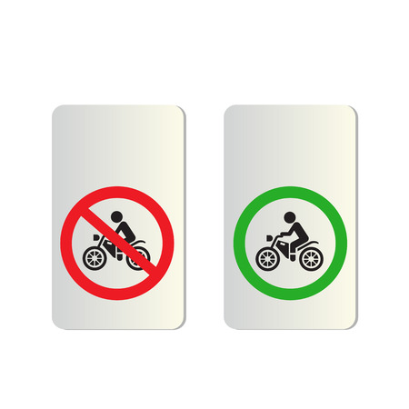 Motorcycle signs on white background Illustration