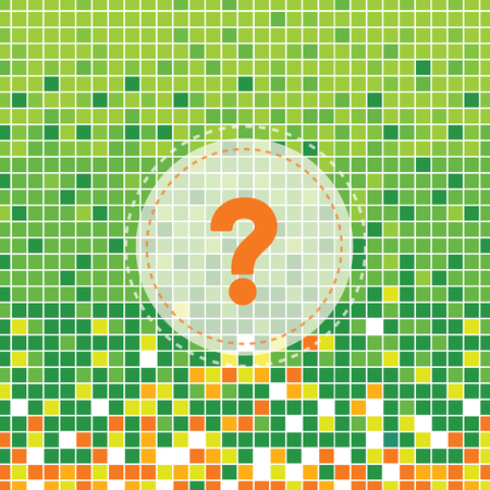 question mark symbol on green moses background Illustration