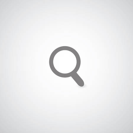 magnification: gray magnification symbol  for use Illustration