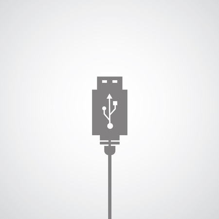 data link connector symbol on gray background  Vector