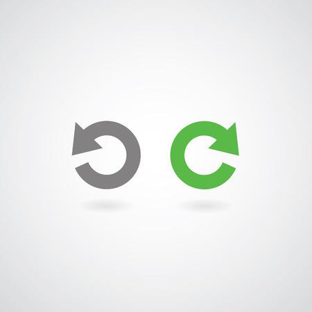 again: redo and undo symbol on gray background