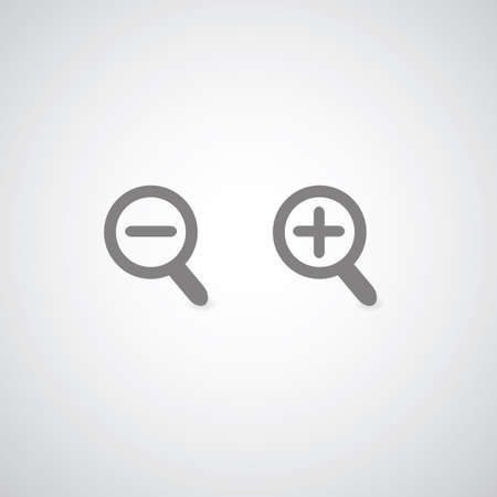 clear out: gray magnification symbol  for use Illustration