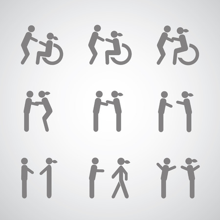 Disabled symbol  on gray background Stock Vector - 23825385