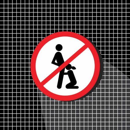 No sex sign until the right time and place  Illustration