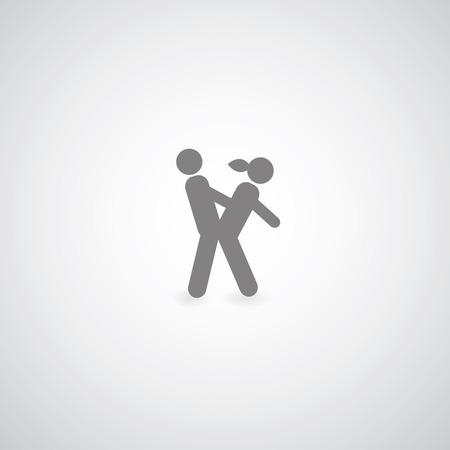 sex behavior symbol  on gray background  Illustration