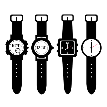 digital clock: watch vector on white background