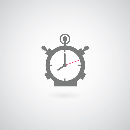 clock symbol on gray background