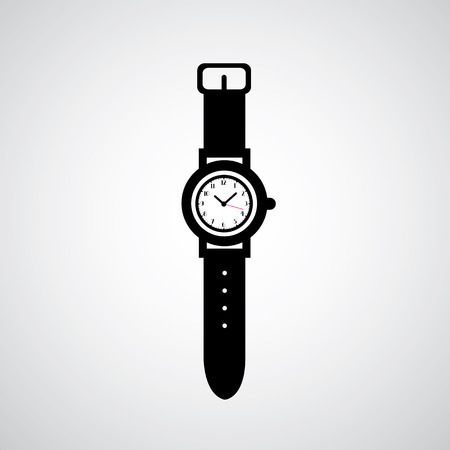 watch vector on gray background  Illustration
