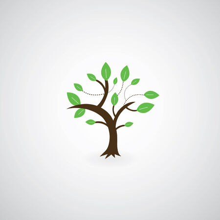 tree symbol  on gray background