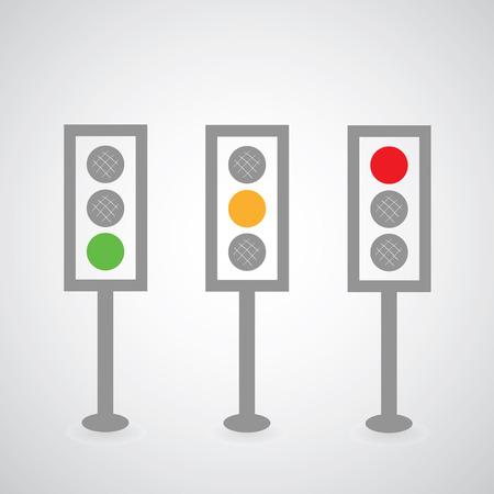 traffic lights: Traffic lights symbol on gray background Illustration