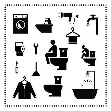 washing set symbol on white background Stock Vector - 24474540