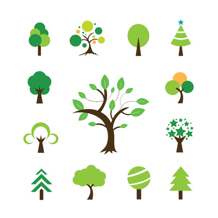 tree symbol  on white background  Vector