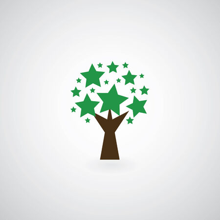 tree symbol  on gray background  Vector