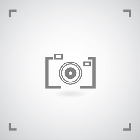 Camera symbol in framework Vector