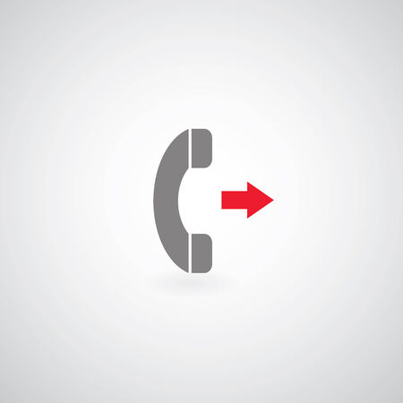 miss call: phone symbol on gray background
