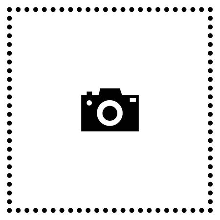 camera symbol on white background  Vector