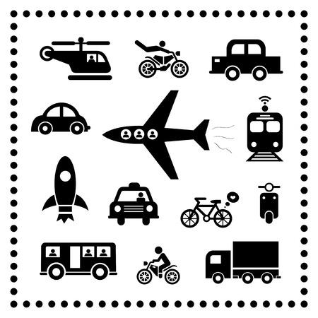 Traffic symbol on white background