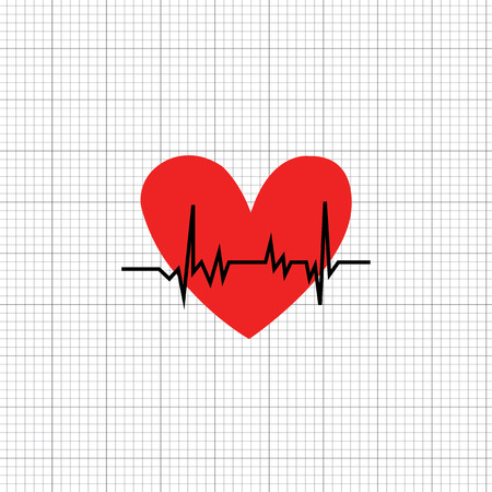 The heart rate symbol ,check for health
