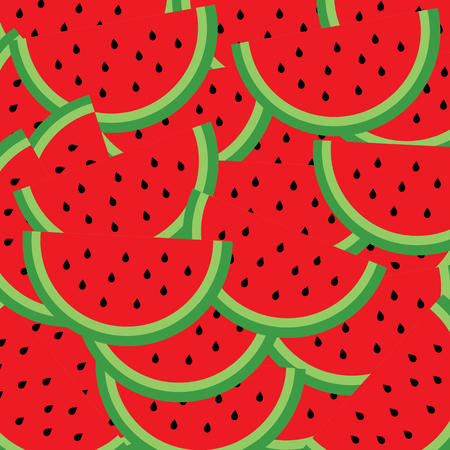 watermelon vector cartoon for background  Vector