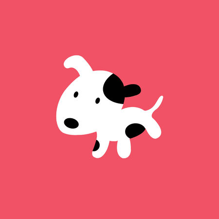 dog cartoon on pink background