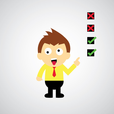 okey: checklist vector cartoon style for use  Illustration