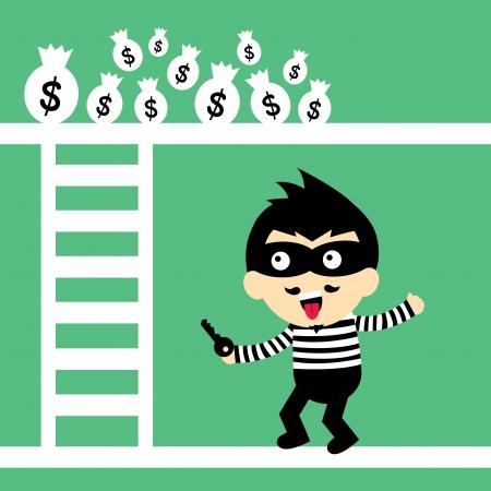 swindler: steal vector cartoon style for use