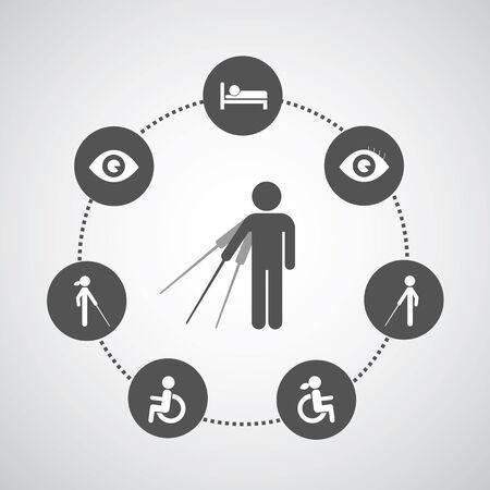 accessible: disabled symbol set in circle diagram  Illustration