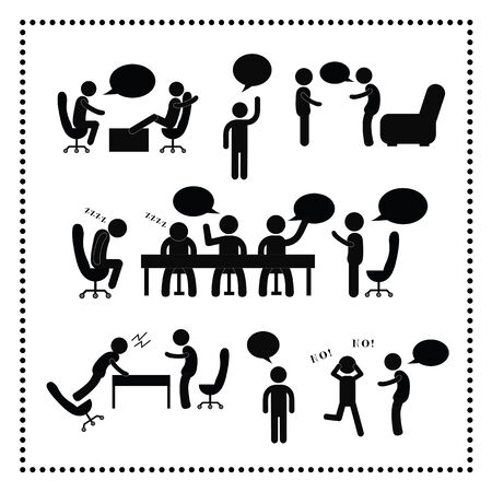 people talking symbol on white background  Vector