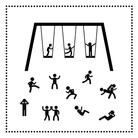 Playing and friendship symbol at playground park Vector