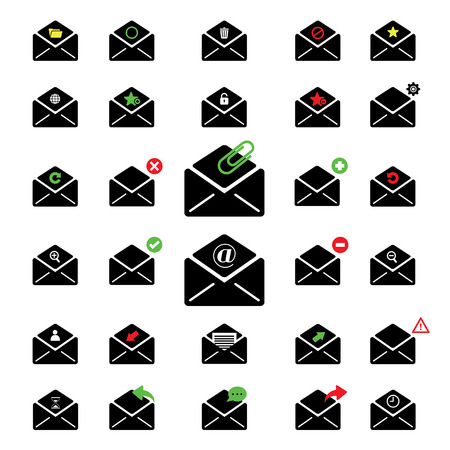 select all: black icon email for business