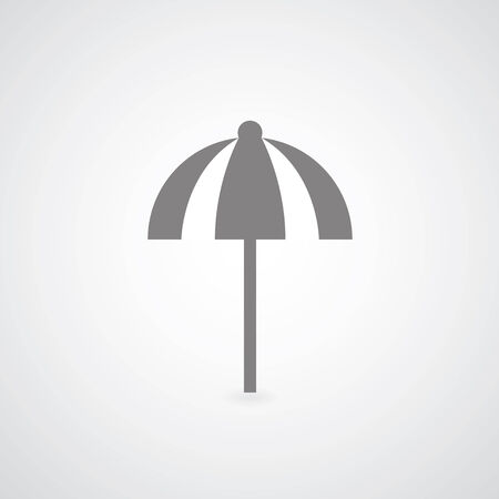 umbrella symbol on gray  Vector