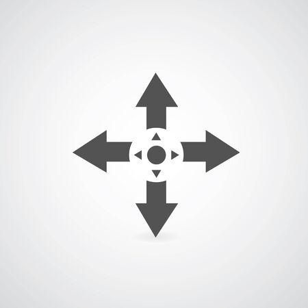 arrow symbol on gray   Vector