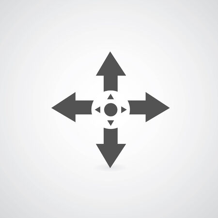 possibilities: arrow symbol on gray   Illustration