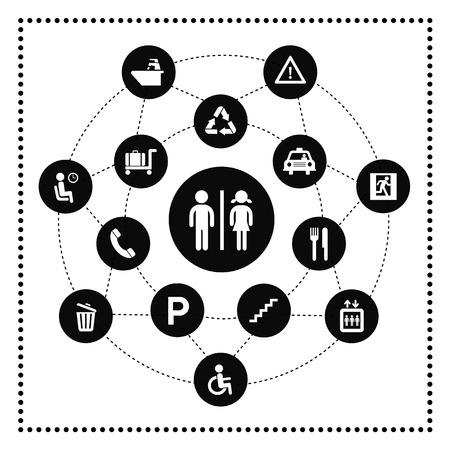 general icon in circle diagram