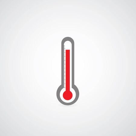 Thermometer symbol on gray   Vector