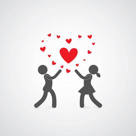 sweet heart symbol on gray   Vector