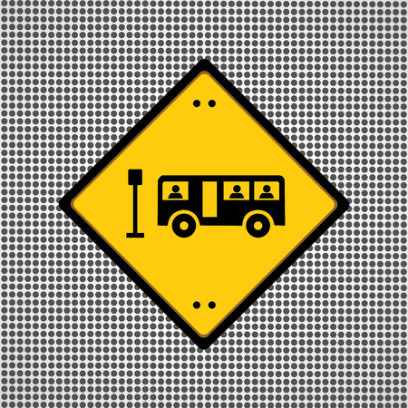 needed: bus sign general symbol needed for use  Illustration