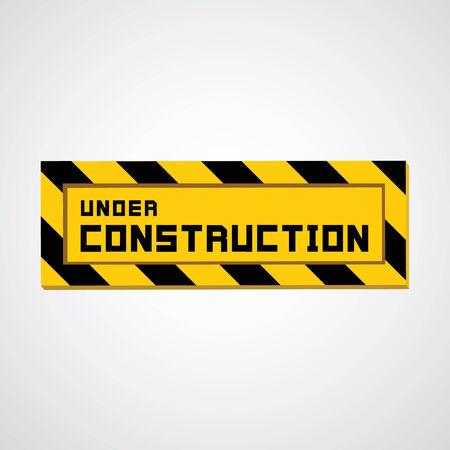 overhaul: segno in costruzione sul grigio Vettoriali