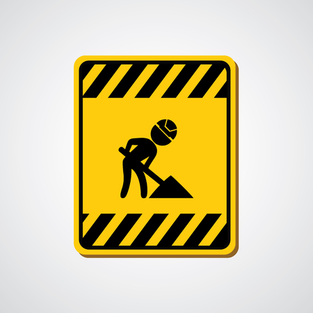 sign under construction on gray   Vector