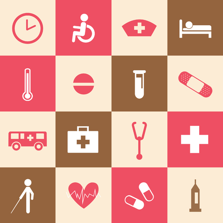 hospital icons set for use  Vector