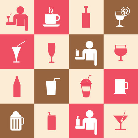 Beverages icons set for use  Vector