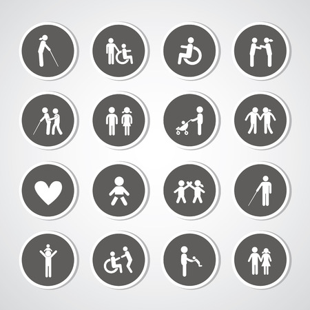 Family icon set for use  Vector