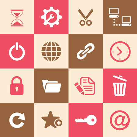 Log Out: Web hosting icons for use  Illustration