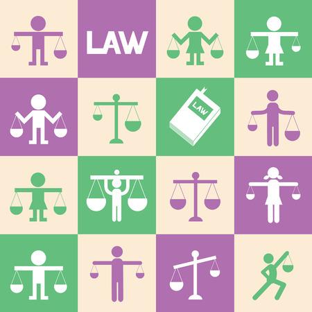 ungleichgewicht: Waagen Symbol des Rechts zur Benutzung