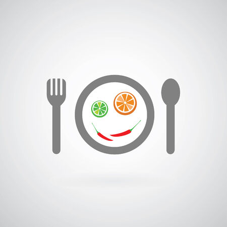 savory food symbol on gray background  Vector