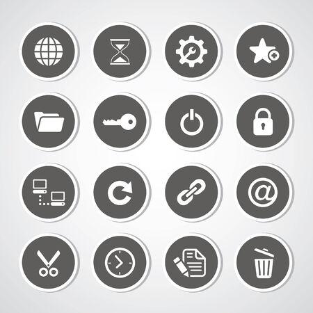 log off: Web hosting icons for use  Illustration